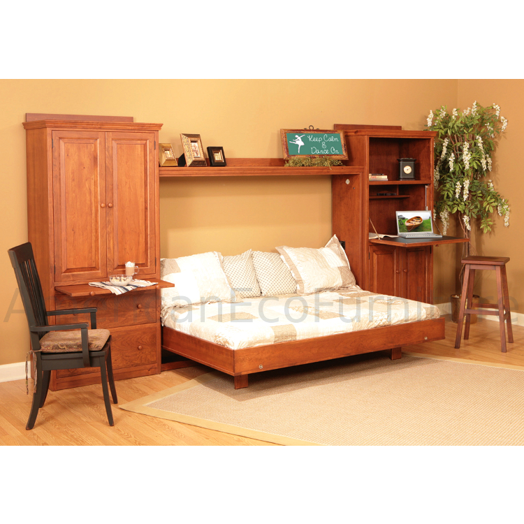 Camden murphy bed made in usa american eco furniture for American made beds