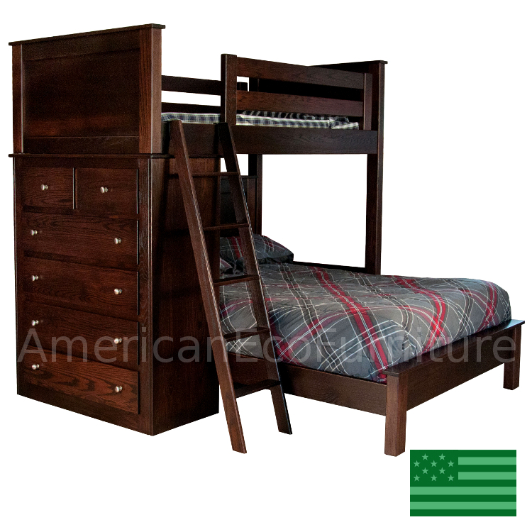 Cameron Loft Bed Made In Usa American Eco Furniture