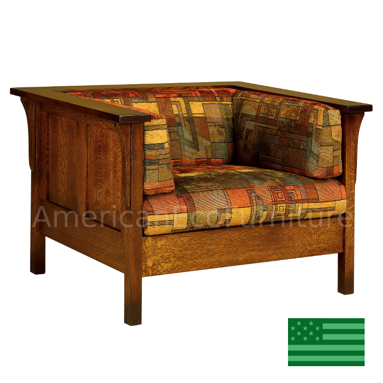 Amish Carlisle Panel Chair Solid Wood Made In Usa