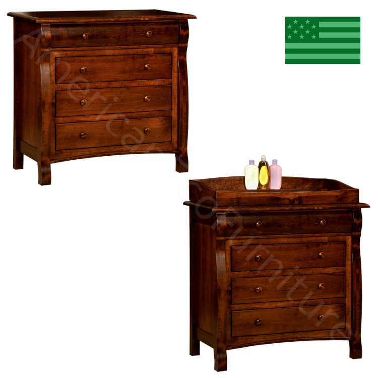 Caspian 4 Drawer Dresser Amp Baby Changer Made In Usa