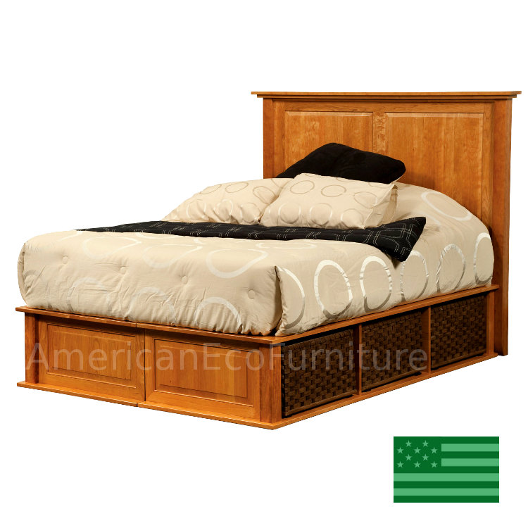 Amish claremont platform bed usa made bedroom furniture for American made beds