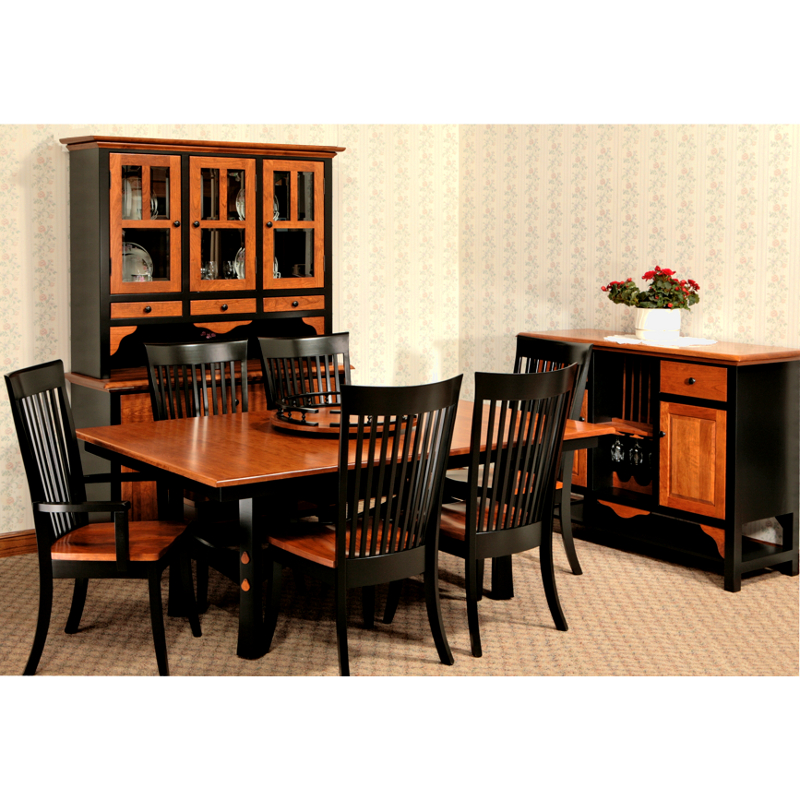 Amish coronado sideboard solid wood made in usa american eco furniture - American made dining room furniture ...