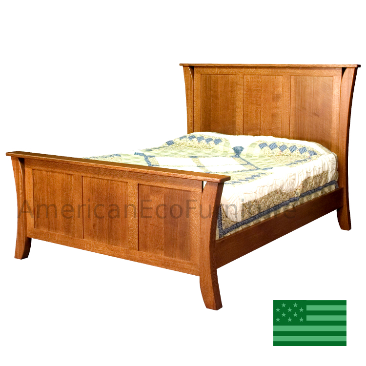 Amish Corsica Panel Bed Usa Made Bedroom Furniture American Eco Furniture