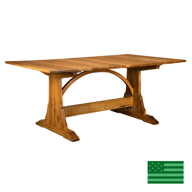 Dining Unfinished Wood Trestle Bench International: Crescendo Trestle Dining Table Made In USA