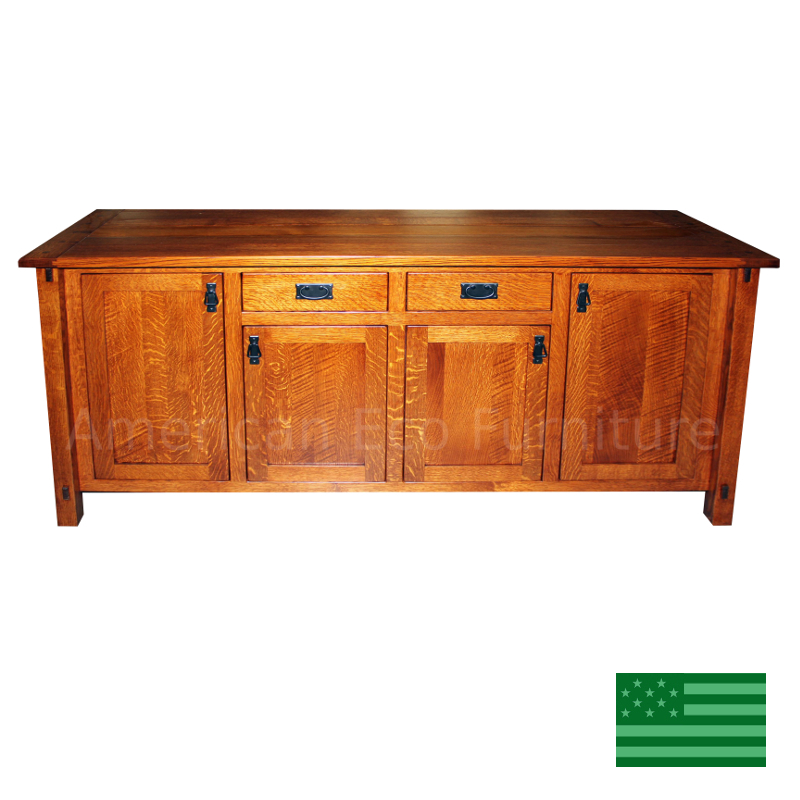 Mission Style Furniture Denver: Amish Denver Buffet Solid Wood : Made In USA :: American