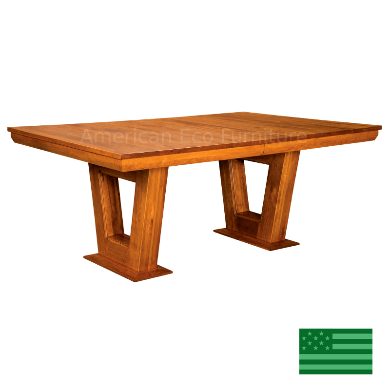Eaton Dining Table Made In Usa Solid Wood American Eco
