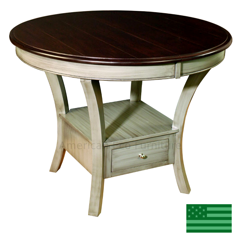 Ella Pedestal Dining Table Made In Usa Solid Wood