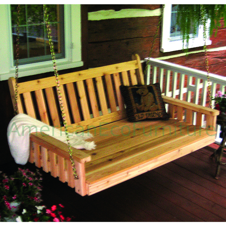 Amish Cedar English Porch Swing Bed Made In Usa