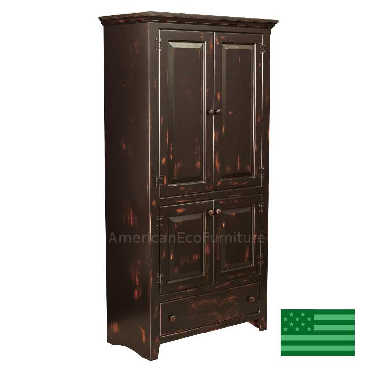 Galveston Pantry Made in USA | Solid Wood Kitchen Pantry ...