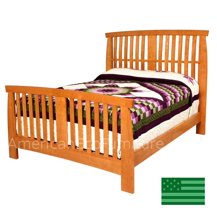 Amish glendale slat bed usa made bedroom furniture for American made beds
