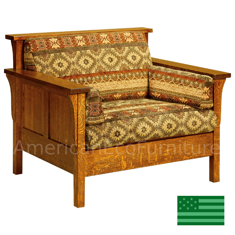 Usa Made Solid Wood Handcrafted Honeydale Panel Chair