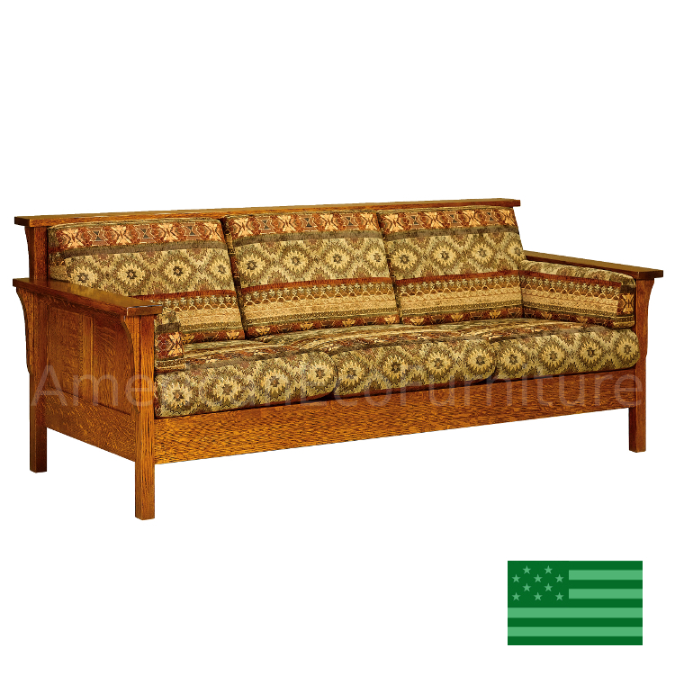 Usa Made Solid Wood Handcrafted Honeydale Panel Loveseat