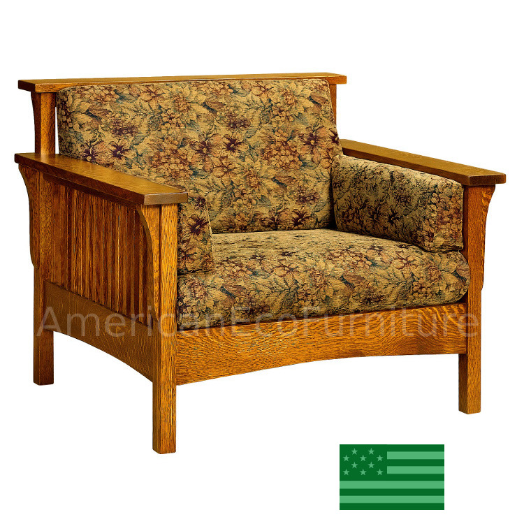 Amish Honeydale Slat Chair Solid Wood Made In Usa