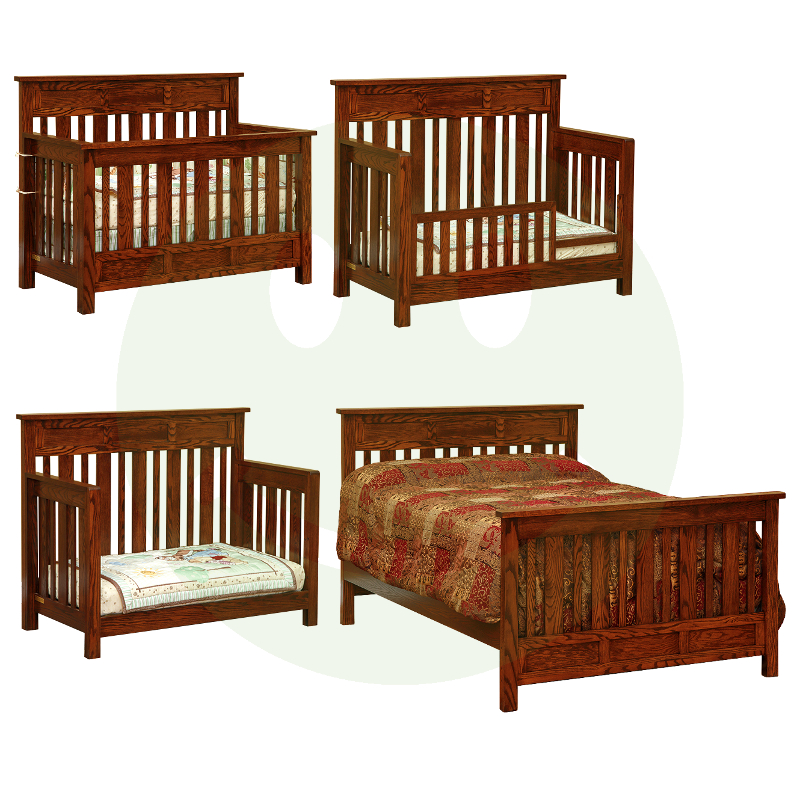 Houston Convertible Baby Crib Made In Usa Solid Wood