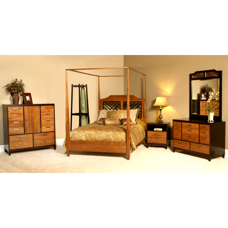 Amish margate canopy bed usa made bedroom set american for Bedroom furniture made in usa
