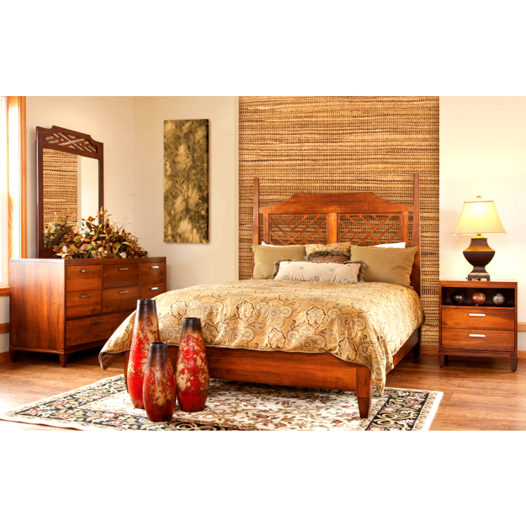 Amish Margate Bed With Low Footboard Usa Made Bedroom Set American Eco Furniture