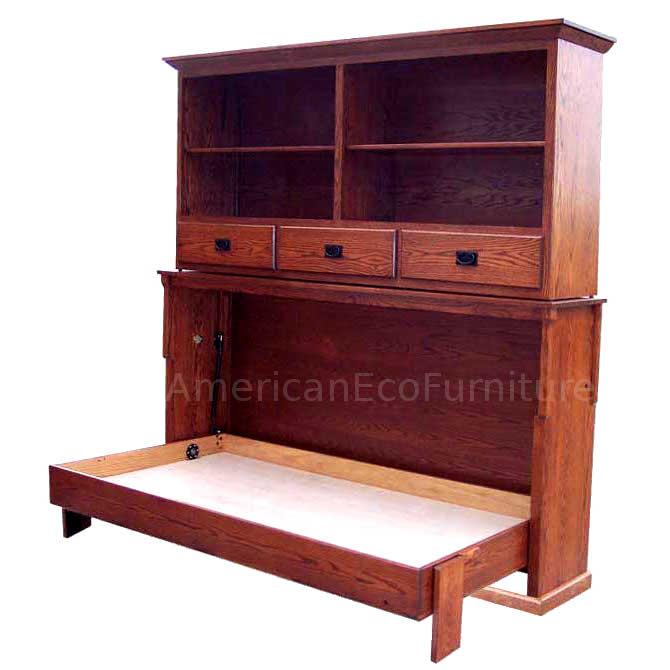 Mission Bookcase Murphy Bed Made In Usa American Eco