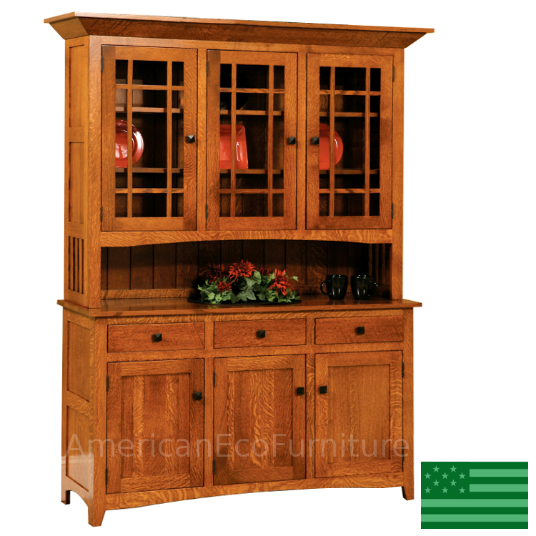 78 Natural Wood Dining Room Hutch