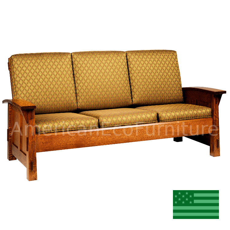 Amish Mission Viejo Loveseat Solid Wood : Made In USA