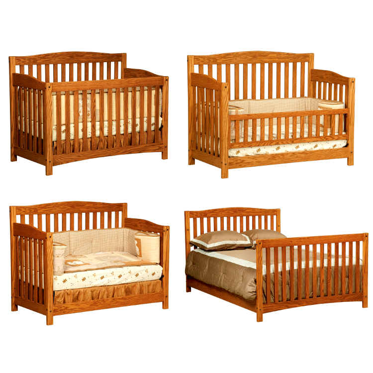 Monterey Convertible Baby Crib Made In Usa Solid Wood