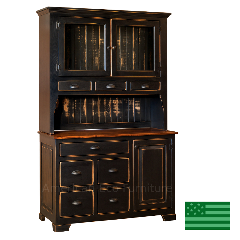 Amish montreal hutch solid eastern white pine american for M furniture montreal