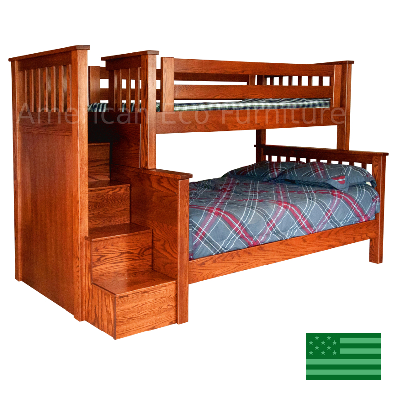 Custom bunk beds made in america usa made children 39 s for American made beds