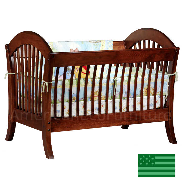Pacifica Convertible Baby Crib Made In Usa Solid Wood