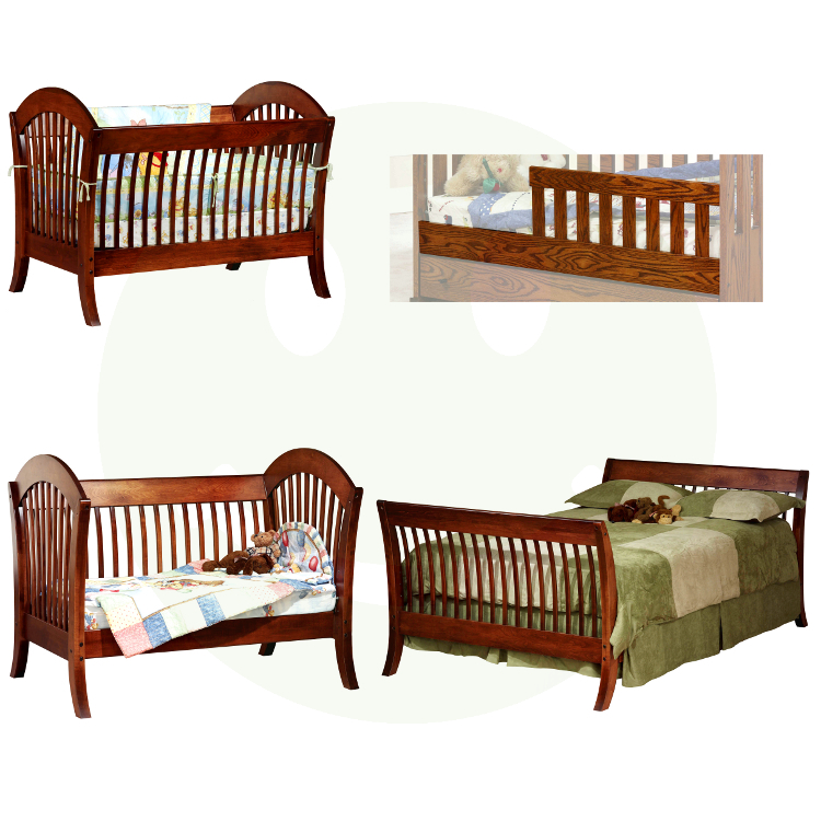 Pacifica 4 In 1 Convertible Baby Crib Solid Wood Made In