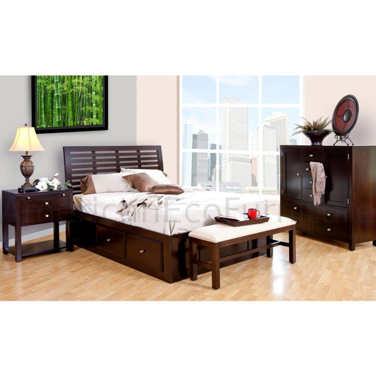 Amish Parkview Platform Storage Bed Usa Made Bedroom Furniture American Eco Furniture