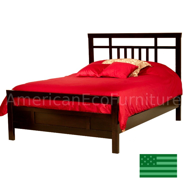 Amish pembrook bed usa made bedroom furniture american for American made beds