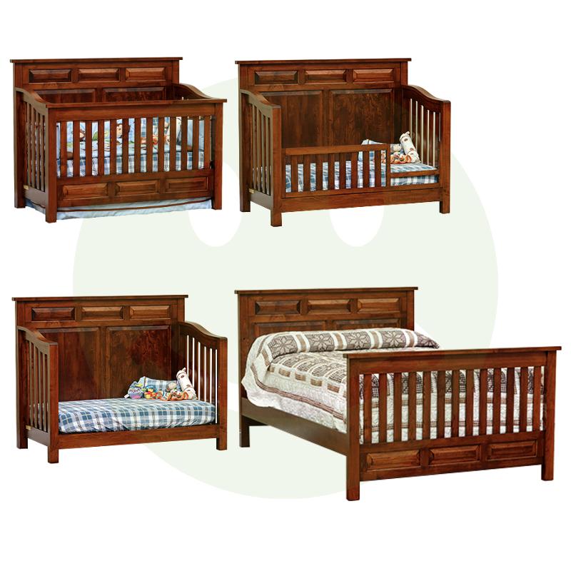 American Baby Furniture Manufacturers: Peyton Convertible Baby Crib Made In USA