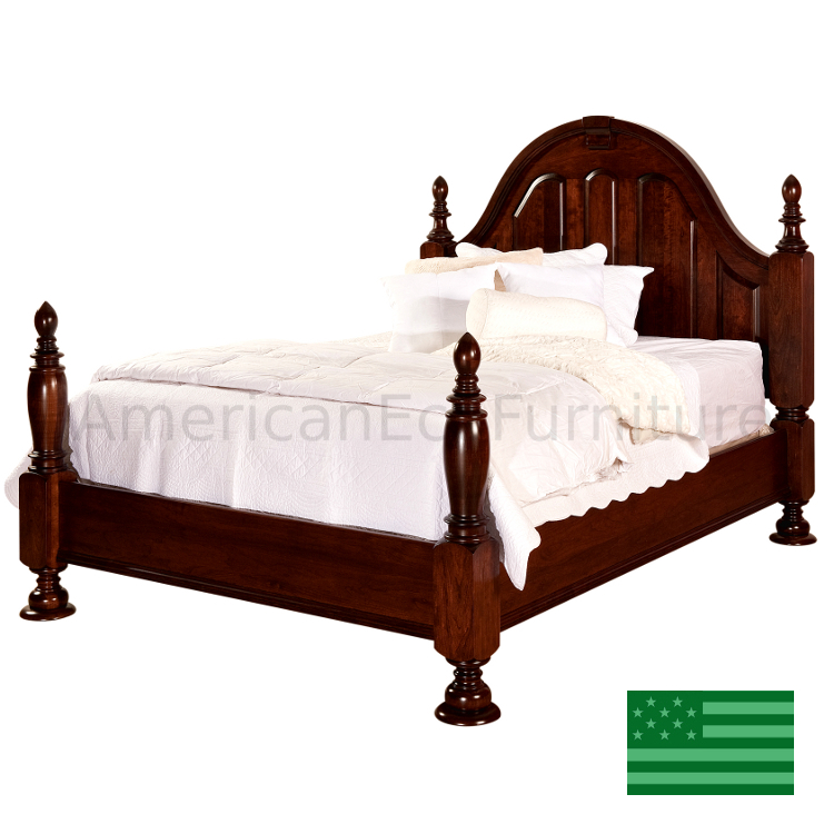 Amish rosemead bed usa made bedroom set american eco for American made beds