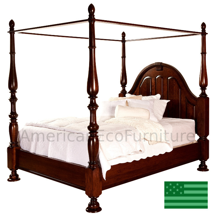 Amish rosemead canopy bed usa made bedroom set for American made beds