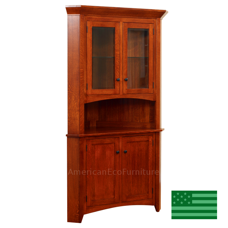 Corner Cabinet Dining Room Hutch: Made In America Corner Hutches & Cabinets