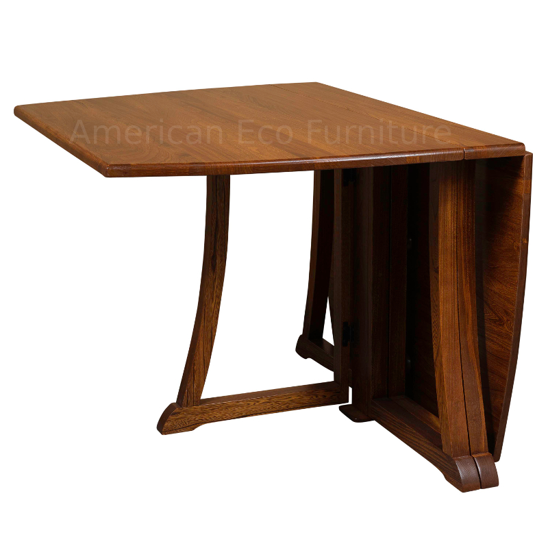 Sierra Folding Dining Table Made In America Solid Wood