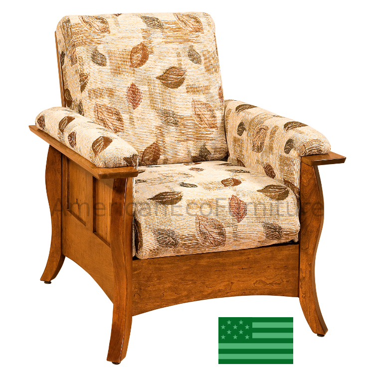 Amish Sorrento Chair Living Room Chairs Made In Usa American Eco Furniture