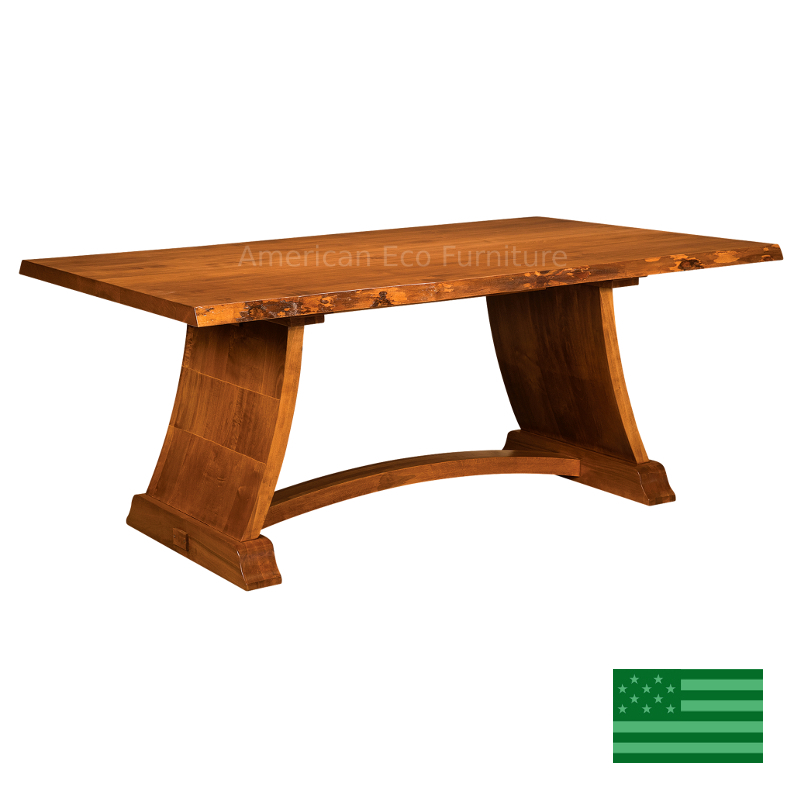 Tacoma Live Edge Dining Table Made In Usa Solid Wood