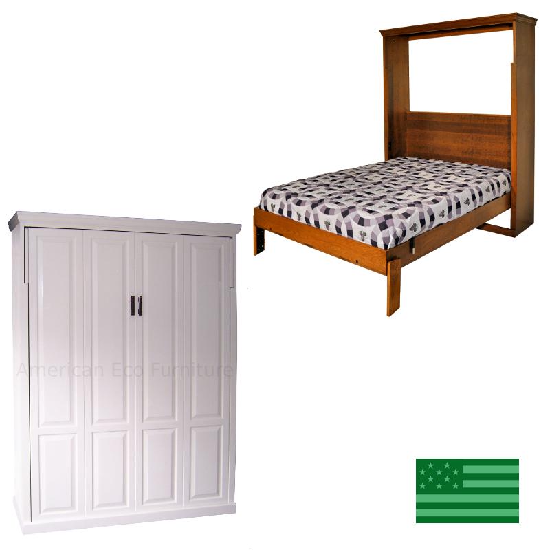 Amish Topanga Murphy Bed Solid Wood American Made